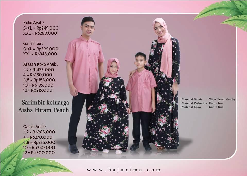 Baju Muslim Terbaru 2018 Online Koleksi Sarimbit Rima 2017