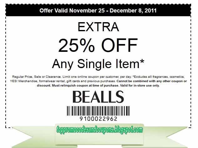 bealls promo code