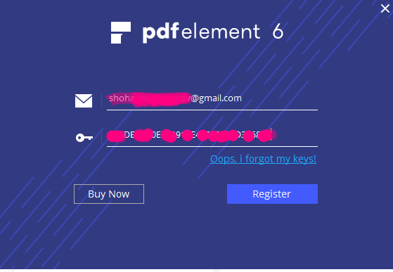 PDFelement 6 pro version activation