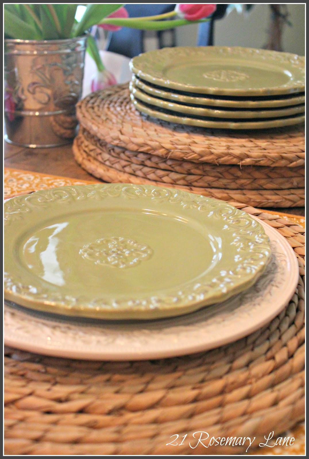 21 Rosemary Lane Rush Placemats For Spring