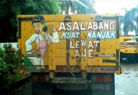 kata kata lucu sopir truk