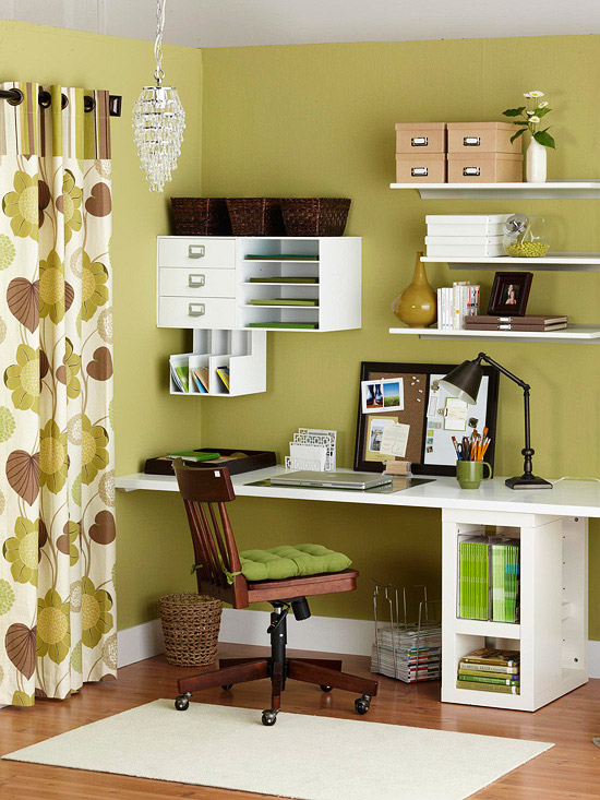 Get your home office organized with our tips for making a small space clutter-free. You'll love having a small home office that works for you.
