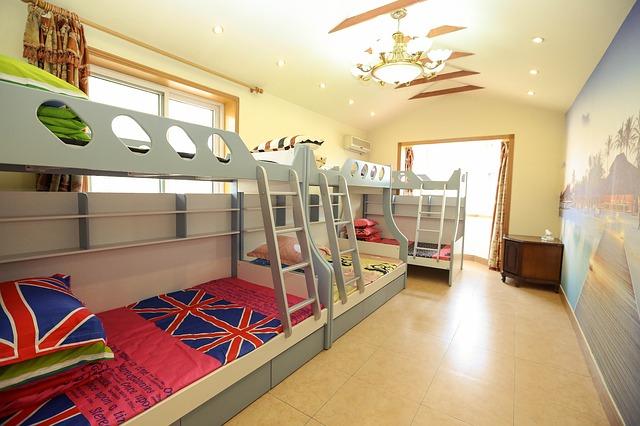 3 veya daha fazla çocuk odası dekorasyon fikirleri