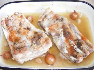Preparare friptura de porc la cuptor cu vin reteta,