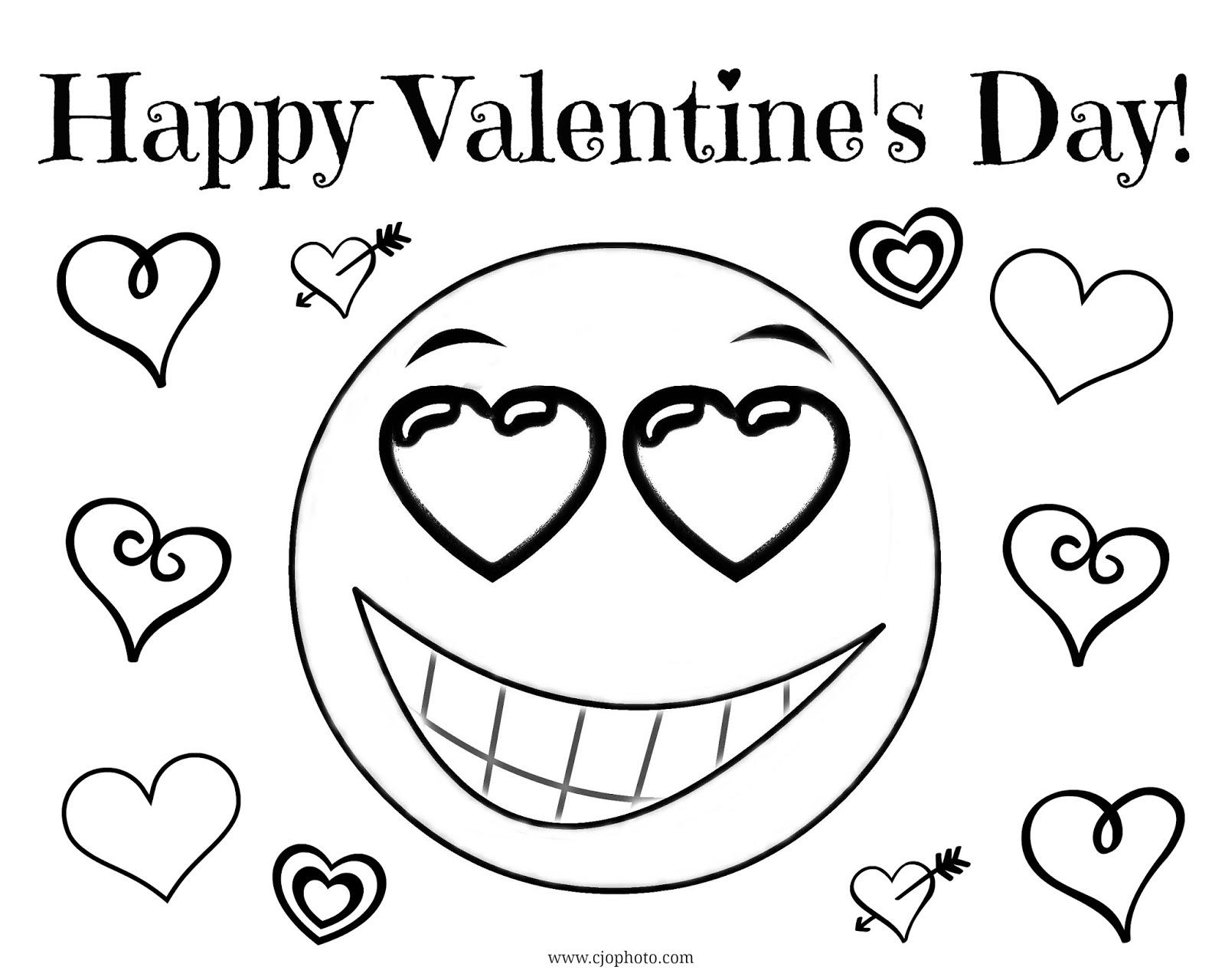 Cjo Photo Valentine S Day Coloring Page Happy Valentine S Day Emoji