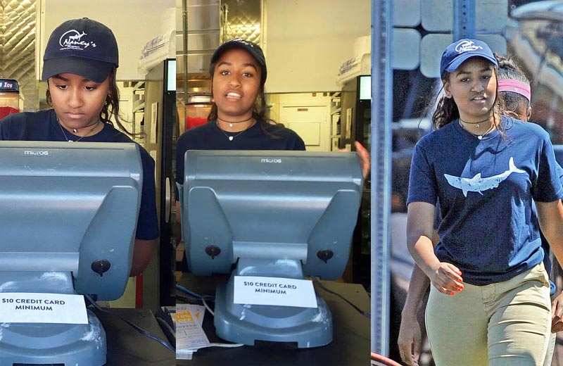 Obama's daughter takes up salesgirl job at restaurant