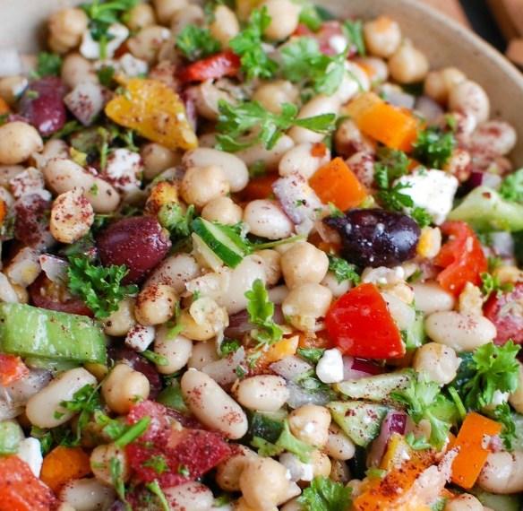 MEDITERRANEAN BEAN SALAD #vegetarian #easyrecipe