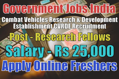 CVRDE Recruitment 2018