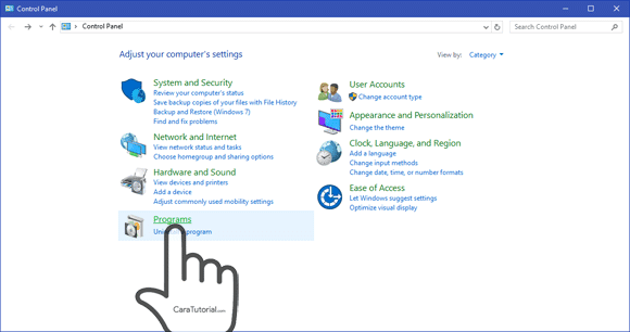 Control Panel Windows 10 8