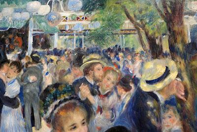 Un dettaglio dell'opera Ballo al Moulin de la Galette
