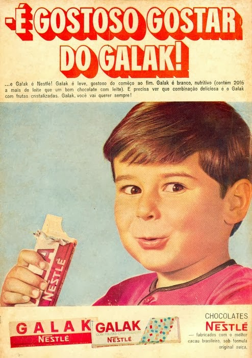 Propaganda do Chocolate Galak (Nestlé) em 1969
