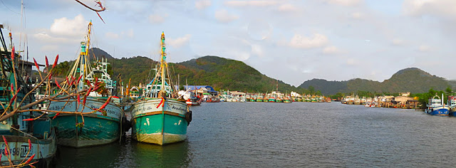 Khanom fishing harbor