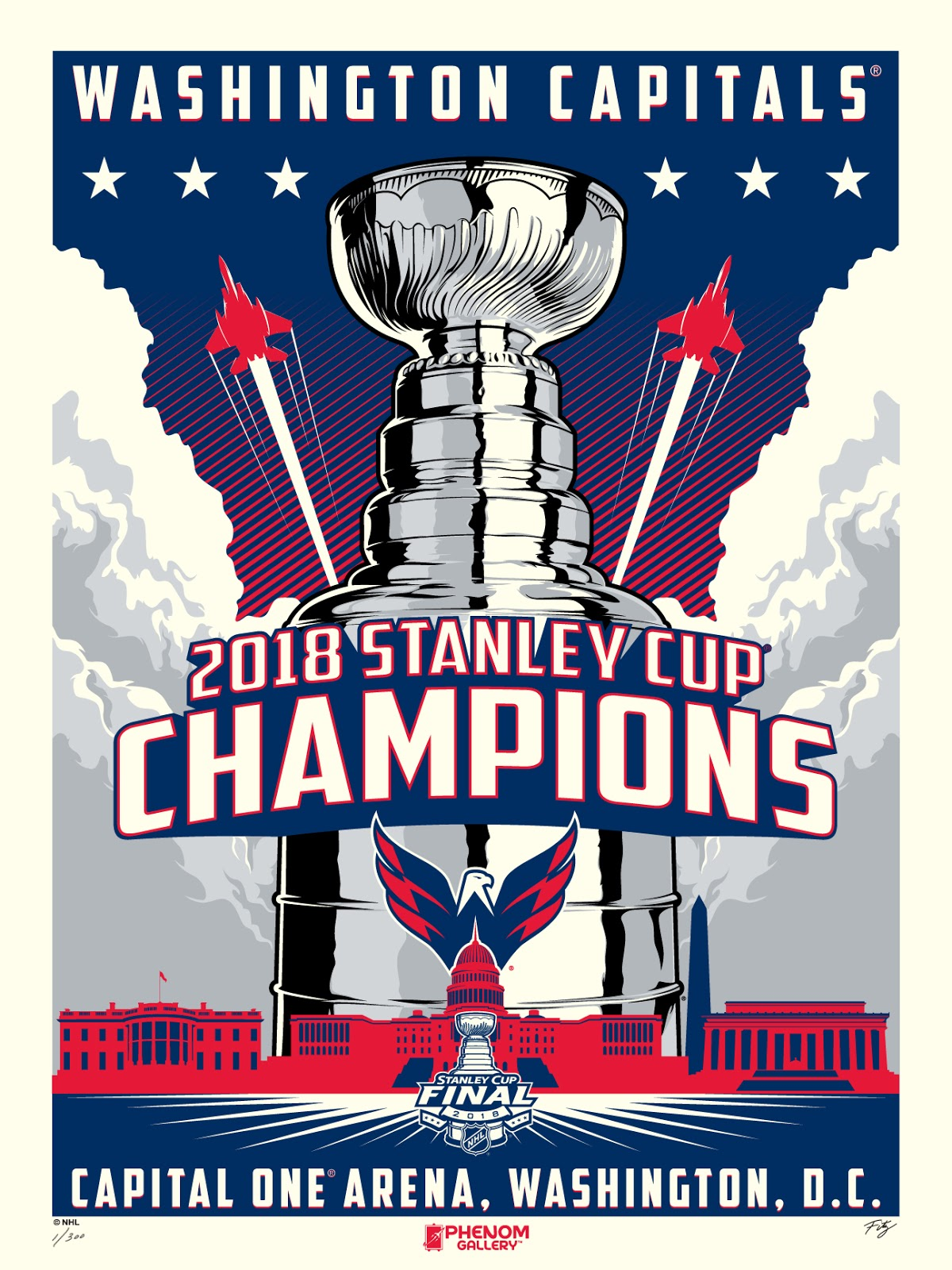 212ec464588474 Washington Capitals 2018 Stanley Cup Champions Screen Prints by M. Fitz x  Phenom Gallery