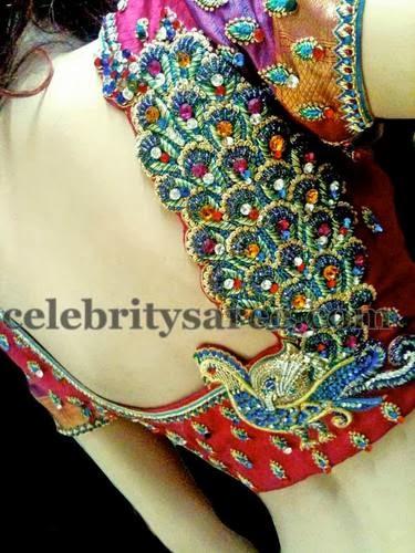 Peacock Work Silk Blouses Saree Blouse Patterns