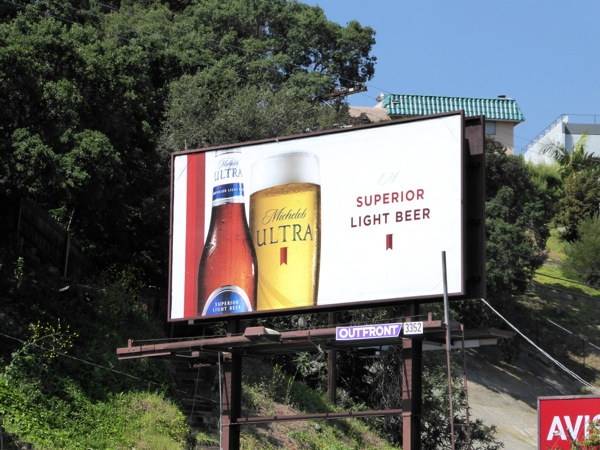 Michelob Ultra Superior Light Beer billboard