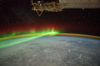 Aurora and Manicouagan Crater
