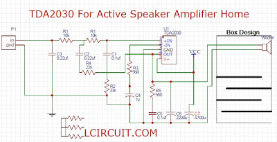 TDA2030 For Active Speaker Super Bass