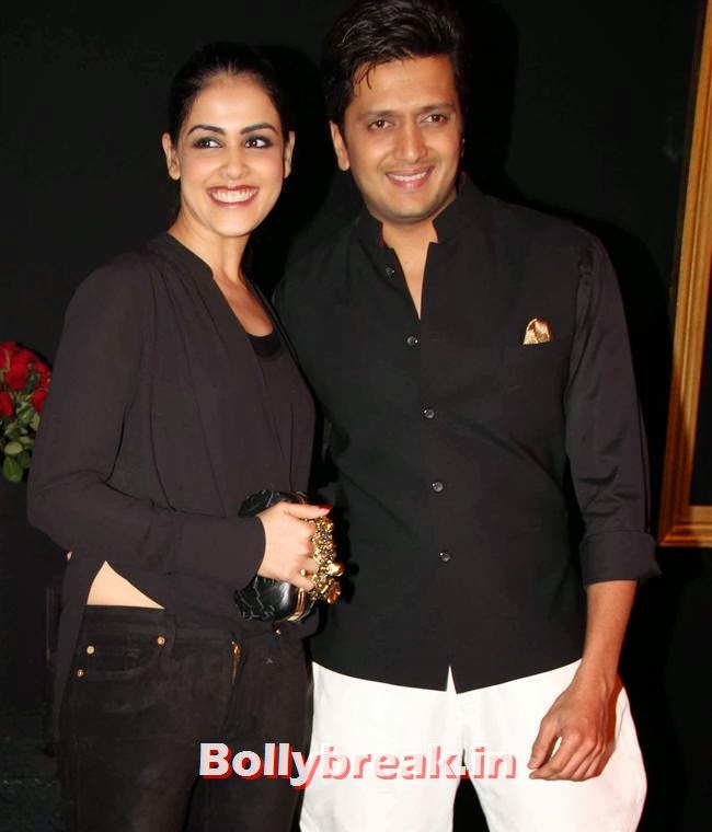 Genelia D Souza and Ritesh Deshmukh, All Bollywood Celebs at Deepika Padukone Golden Party