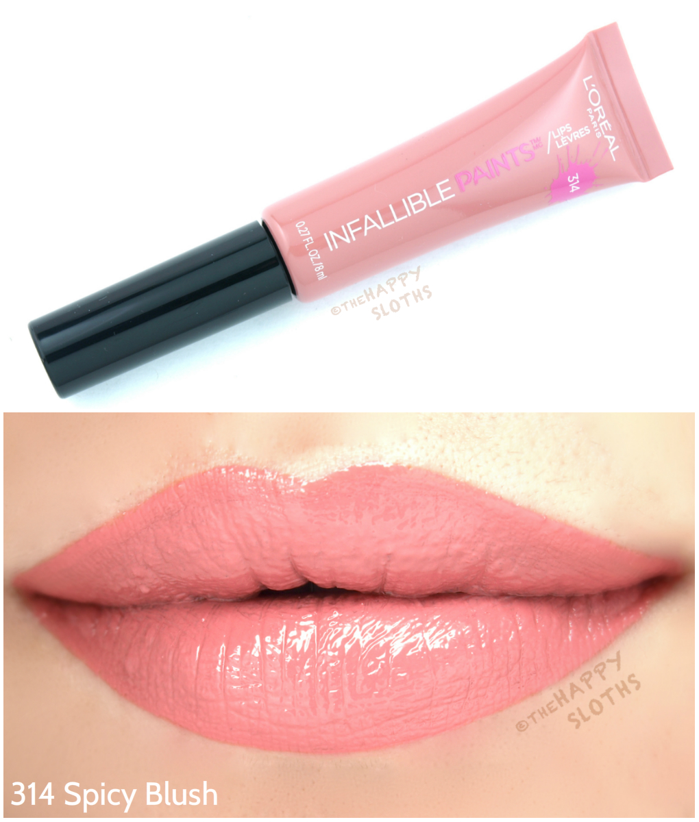 L'Oreal Infallible Lip Paints 314 Spicy Blush