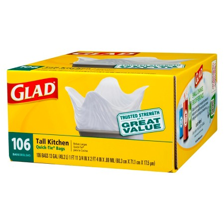 glad kitchen trash bags extractor fan the target saver tall 106ct as low 5 06