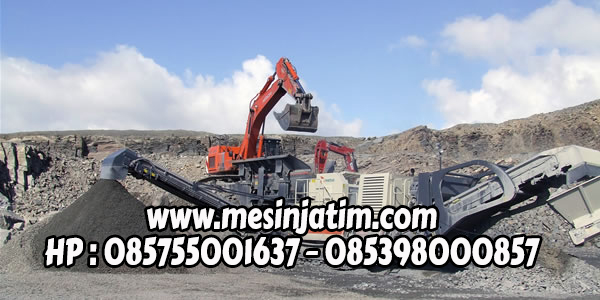 Mesin stone crusher mobil