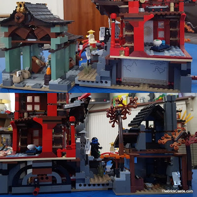 LEGO Ninjago Temple Of Airjitzu set 70751 side view