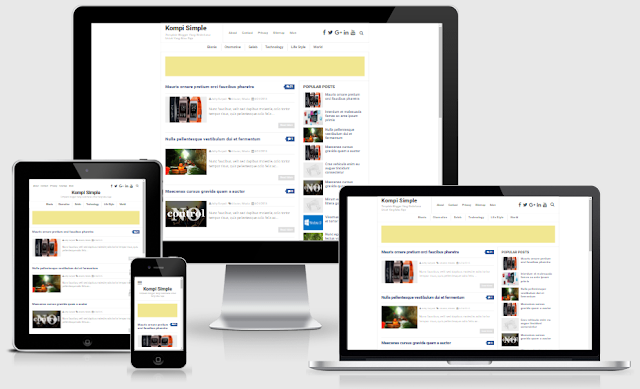 Kompi Simple, Responsive Blogger Template GRATIS