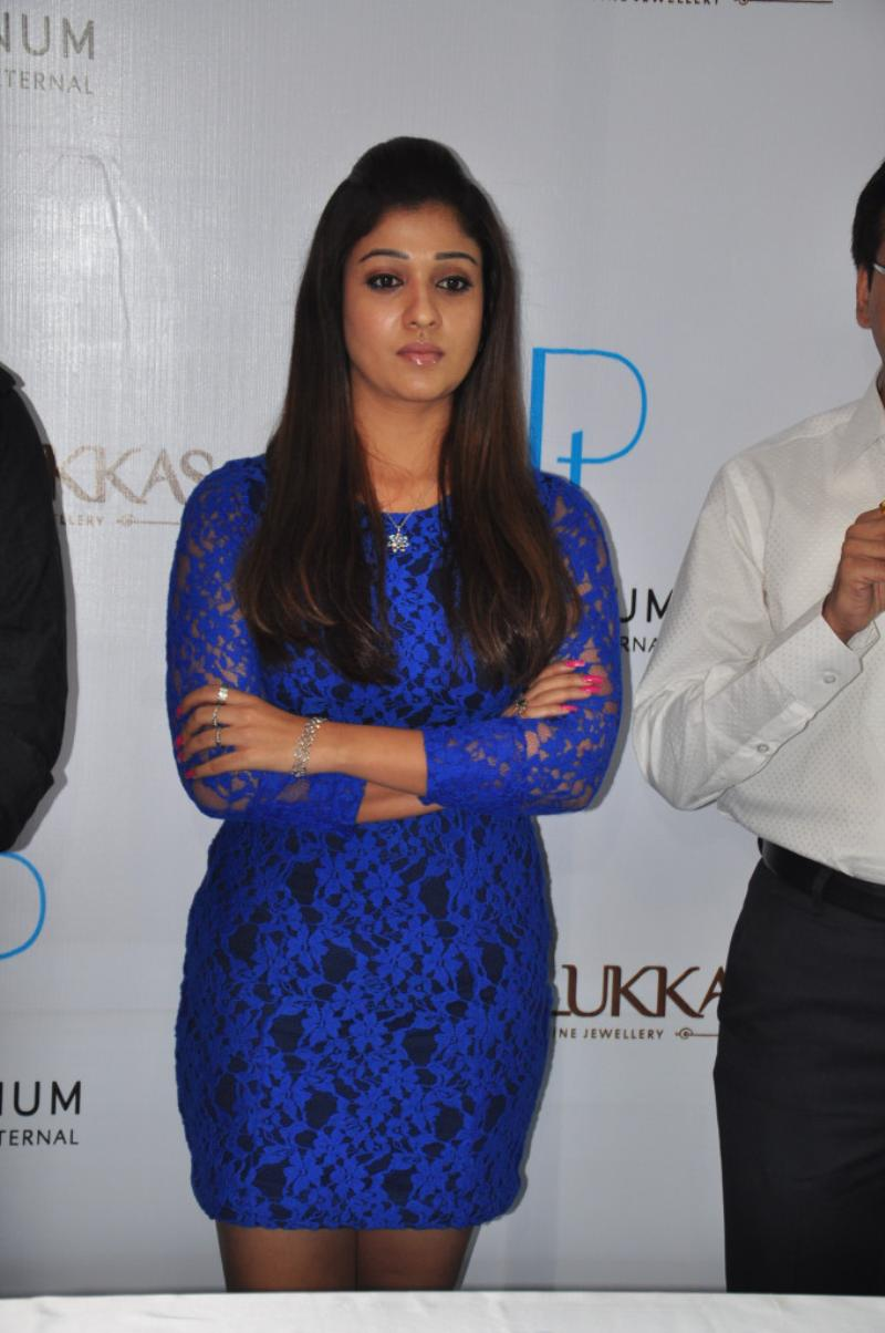 Nayanthara Hot Stills in Blue Dress