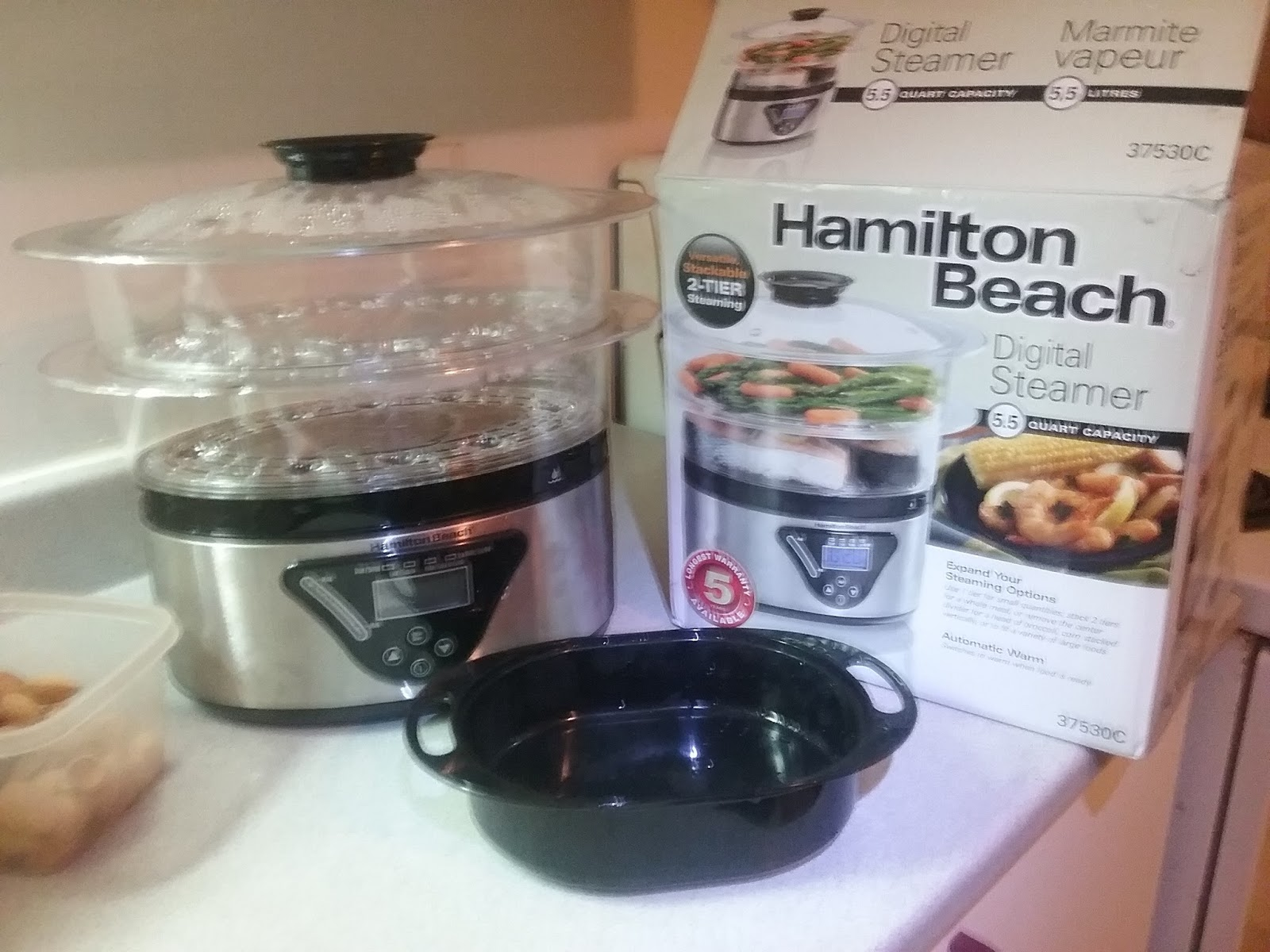 Heather's Weight Loss Journey: Steam Cooking at Home: BMI = 32