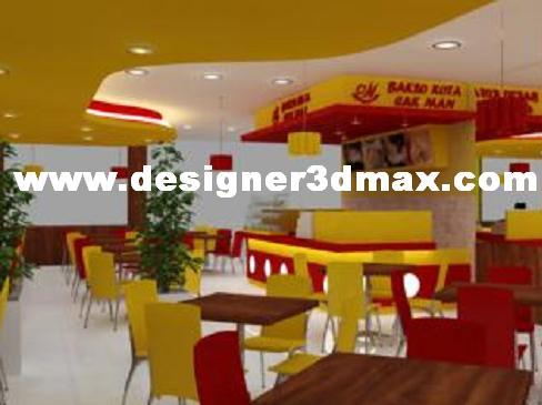 Jasa Interior Eksterior Design Desain Resto Warung Bakso Simple Minimalis Menarik Nyaman