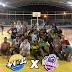 Realizado o 1º jogo-treino entre as Veteranas do Volei e a equipe Juvenil do +Volei, na quadra do C.E.A.H.