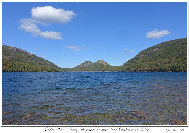 Jordan Pond: Tracing the glacier's retreat. The Bubbles in the Way.