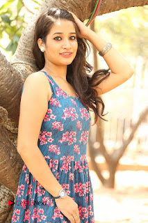 Actress Santoshi Sharma Pictures in Floral Dress at 4x4 Movie Opening  0029.JPG
