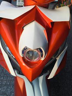 Exciter 2010 sơn phối màu trắng cam theo phong cách Fanta