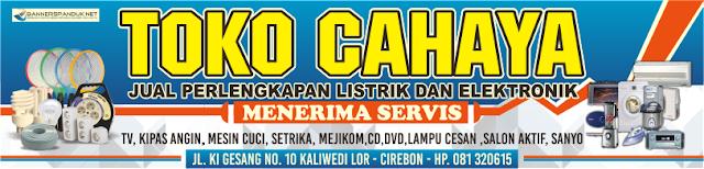 Banner Spanduk Toko Perlengkapan Listrik dan Elektronik Cdr