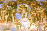 Fresco del Juicio Final en la bóveda de la Capilla Sixtina