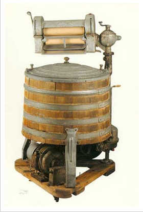 The first electric washing machine The first electric washing machine