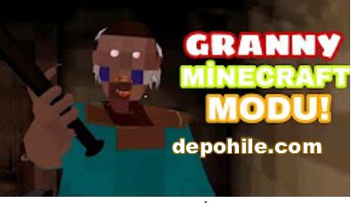 Granny Oyunu Minecraft Modu Apk İndir,Tanıtım - Türkçe 2018