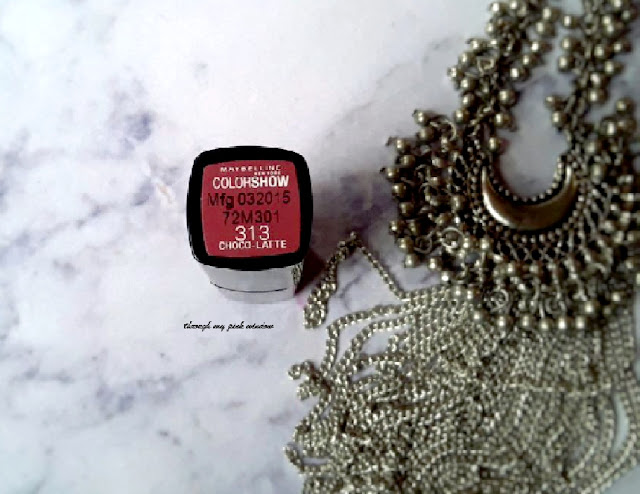 Maybelline ColorShow  lipstick in Choco Latte : Review, Swatch and LOTD