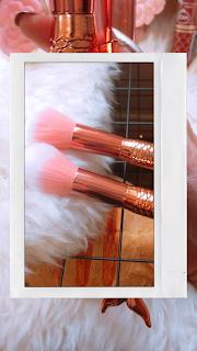 Review: Coshine 10pcs/set Rose Gold Unique Mermaid Make Up Brush Set Cosmetic Tool Kits