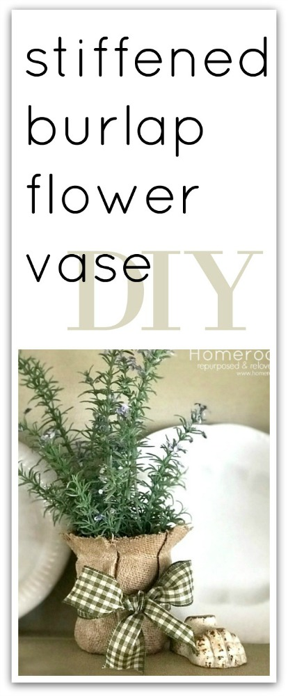 burlap vase and overlay