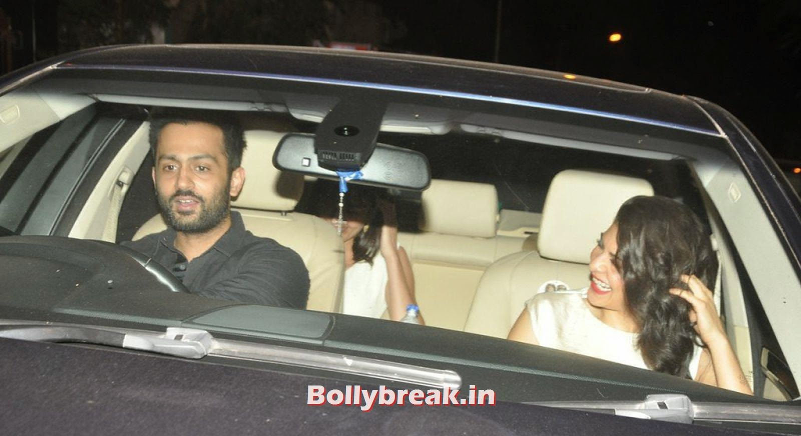 Jacqueline Fernandez sitting in her car, Hot Jacqueline Fernandez Snapped Outside Nido in White Dress