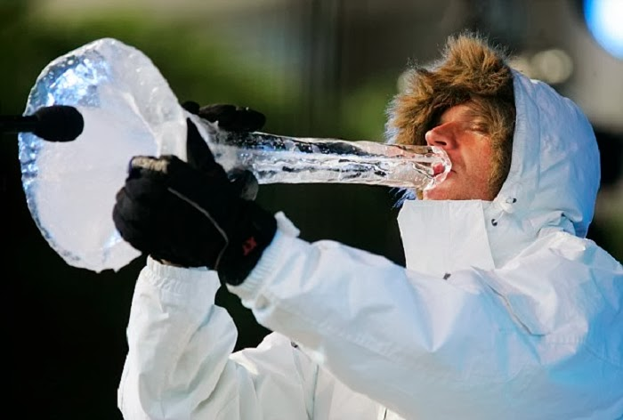 Really Cool Music. Creative Norwegian Musician Creates Ice Instruments
