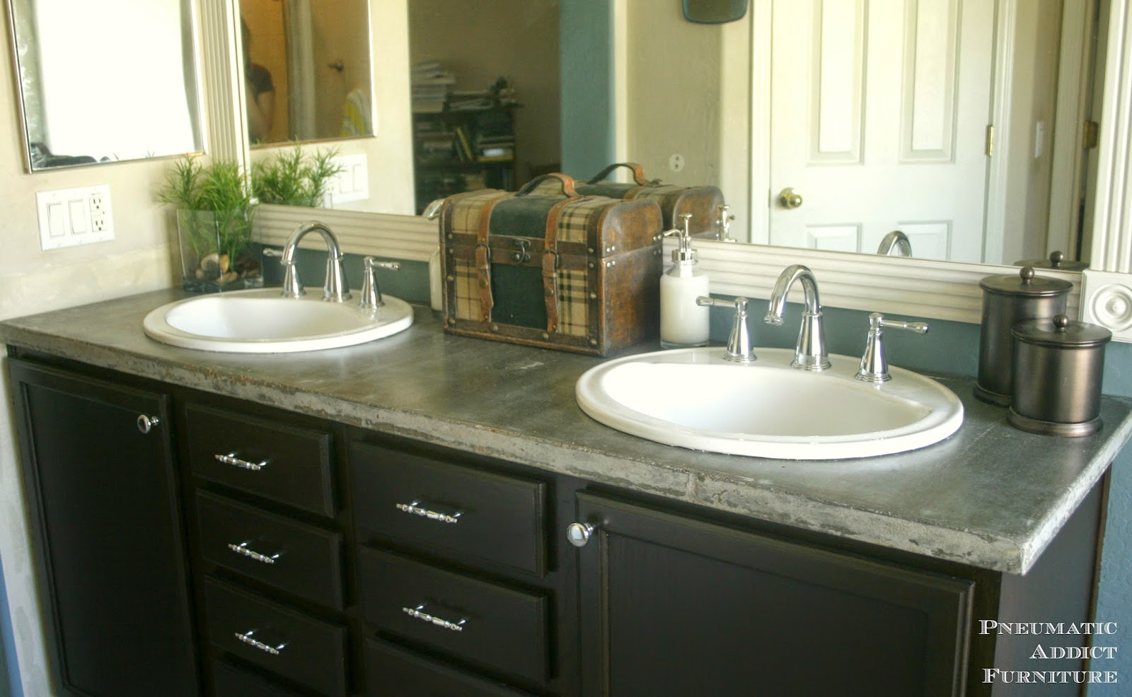 DIY Concrete Countertop With Sink Openings | Pneumatic Addict