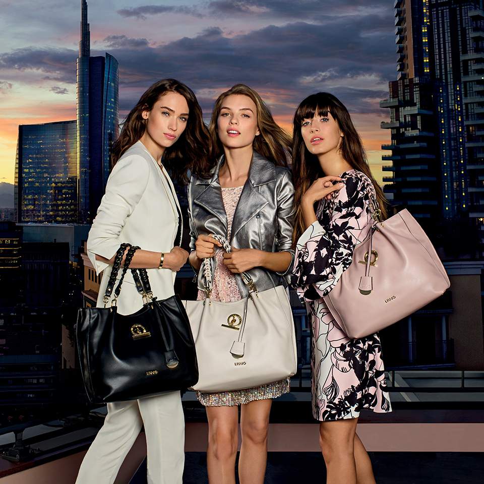 modelle pubblicita liu jo sei unica borse 2018