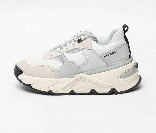 Diesel Pantofi sport moderni de femei albi cu aspect masiv