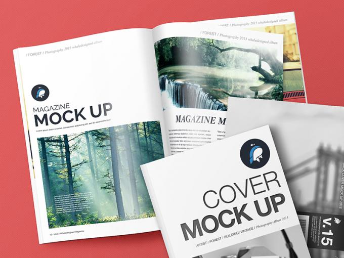 Mockup Magazine Cover PSD Templates
