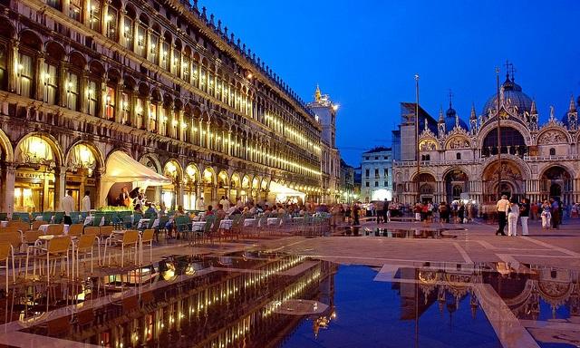 Cidade turística Veneza na Itália