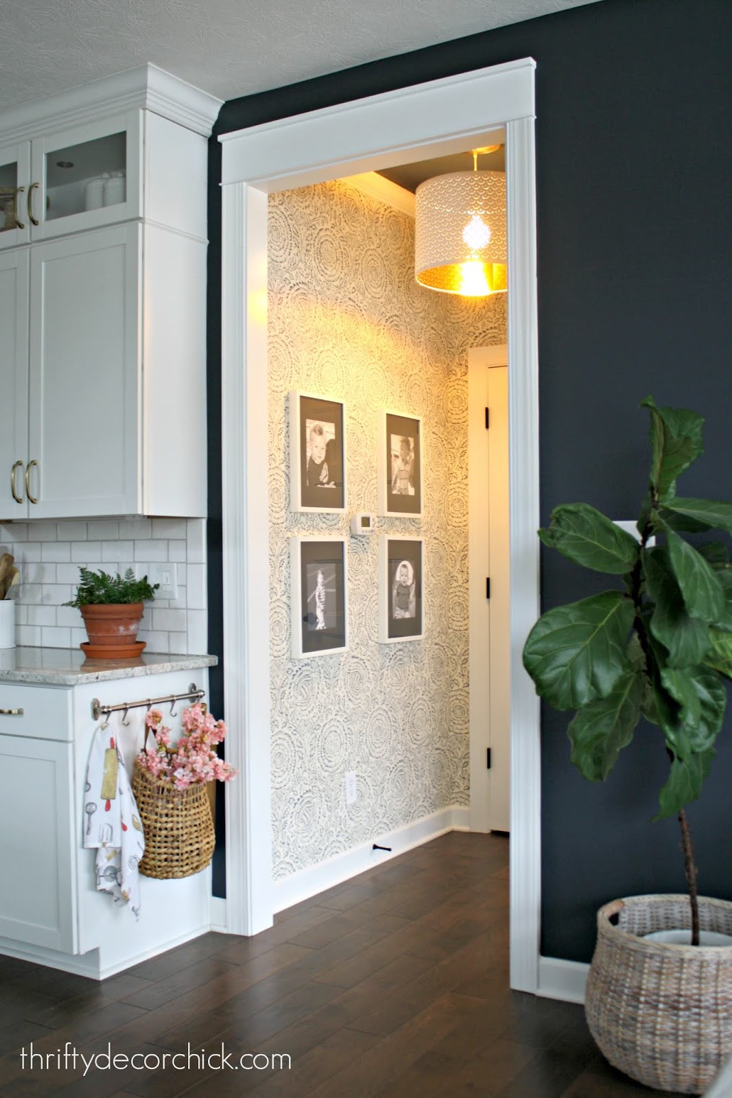 Adding wallpaper to small space