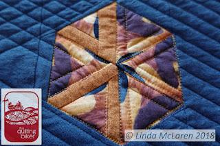 Modern Mini swap quilt deconstructed hexie